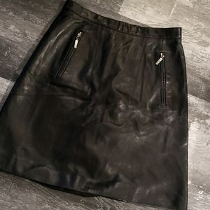Lambskin leather real pockets! Skirt